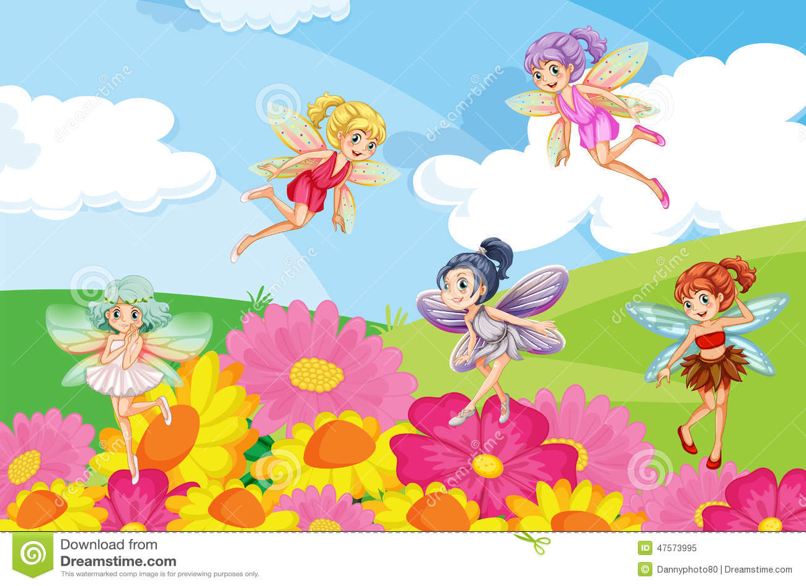 Beautiful garden cartoon - Beautiful Fairies Garden