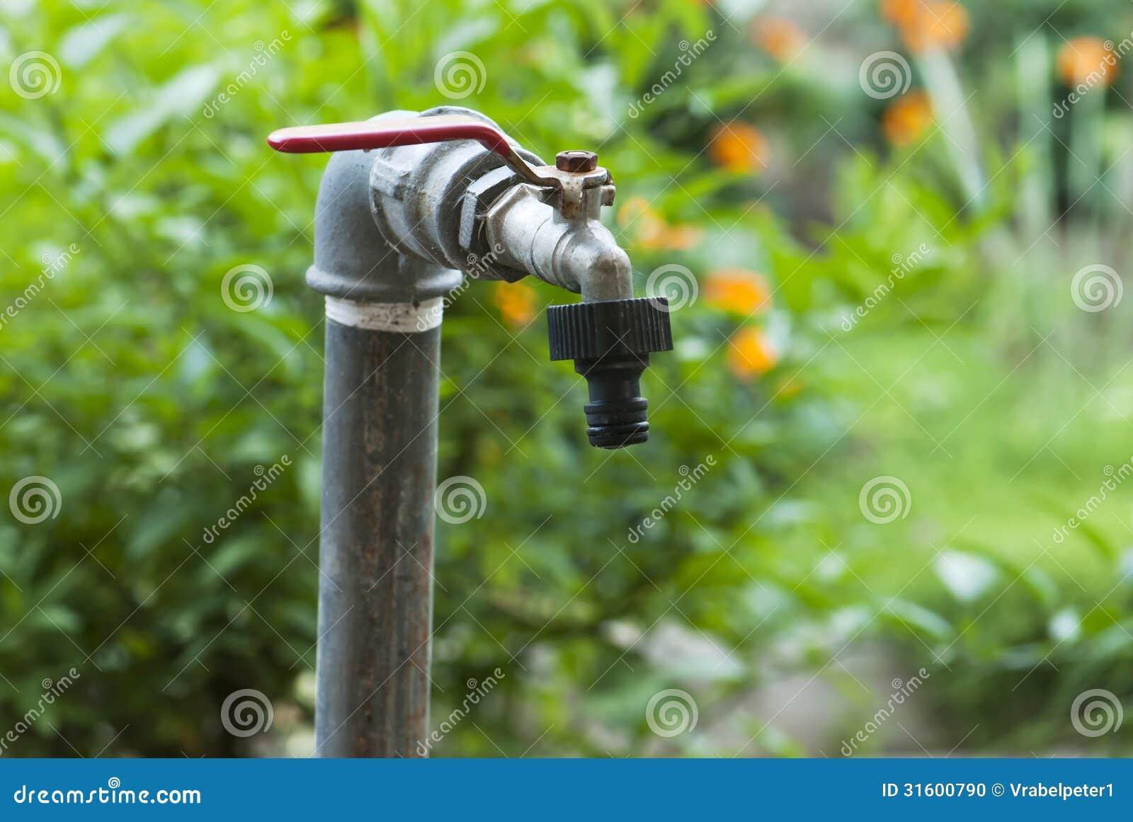 Superieur Detail Of Old Garden Faucet.