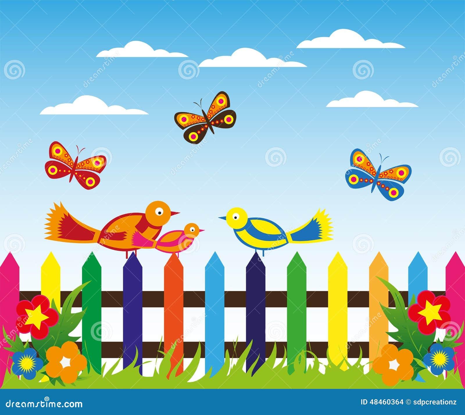 Garden Stock Image Image Of Design: Garden Fence Background Stock Illustration. Illustration