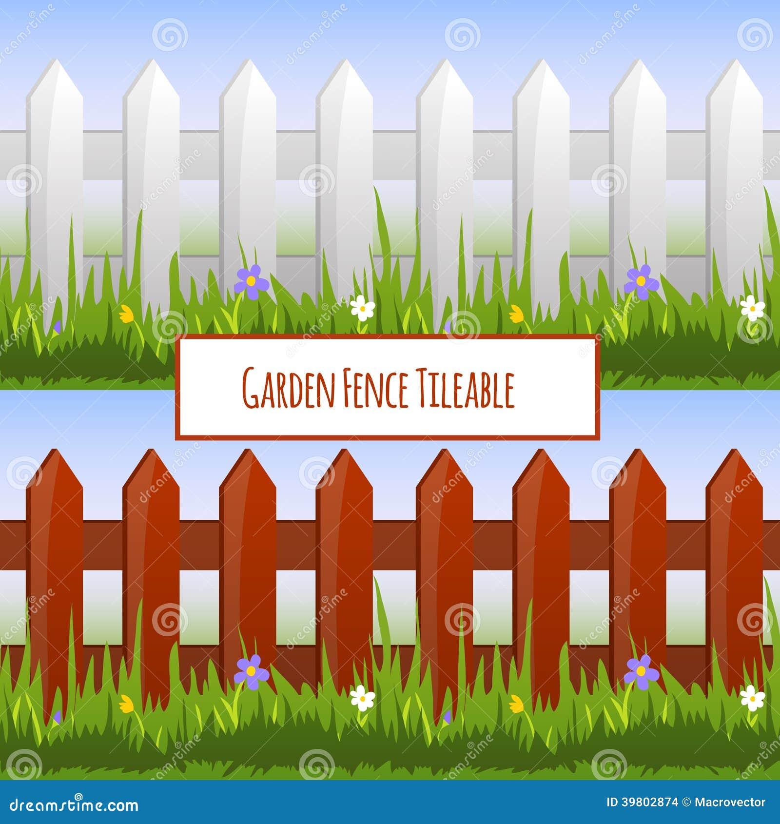 Garden fence pattern stock vector image 39802874 - Cercas para jardin ...