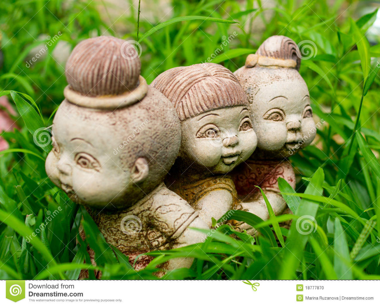 Garden Figurines Stock Photo Image 18777870