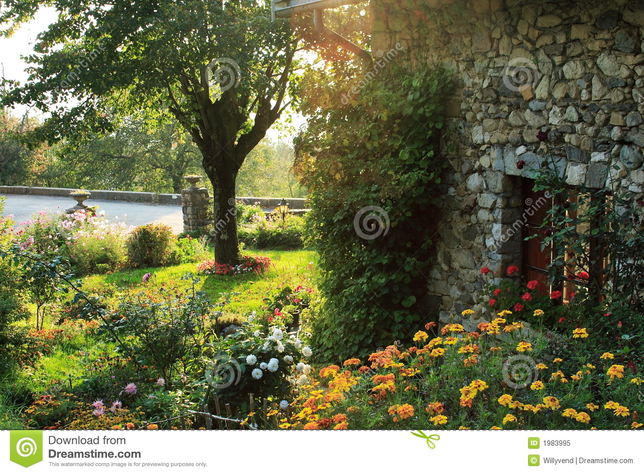 Garden In The French Countryside Royalty Free Stock Photo