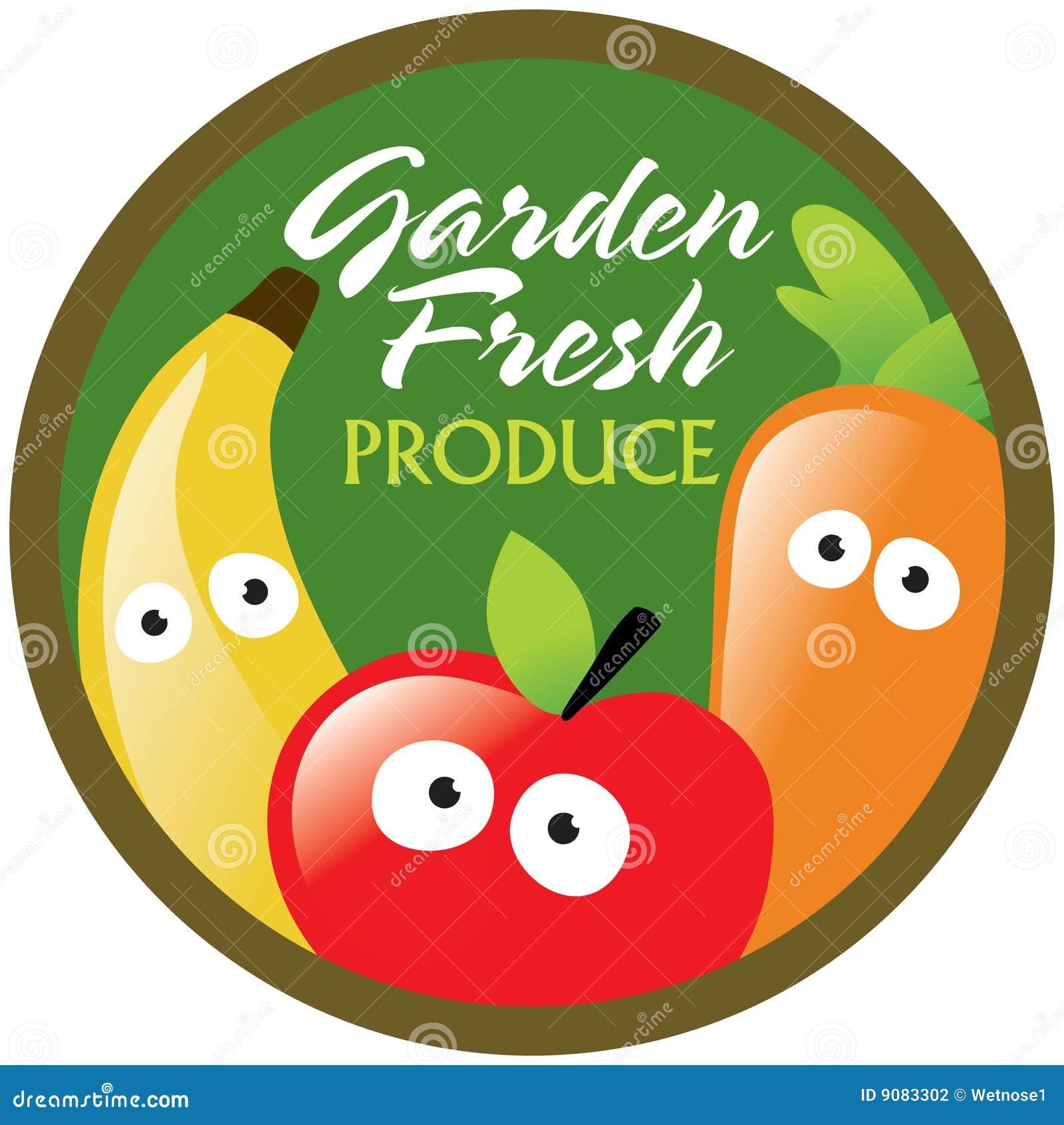 garden fresh produce labelsticker stock photography