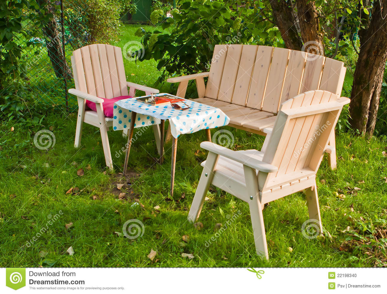 Garden furniture stock photo image 22198340 for Lawn and garden furniture