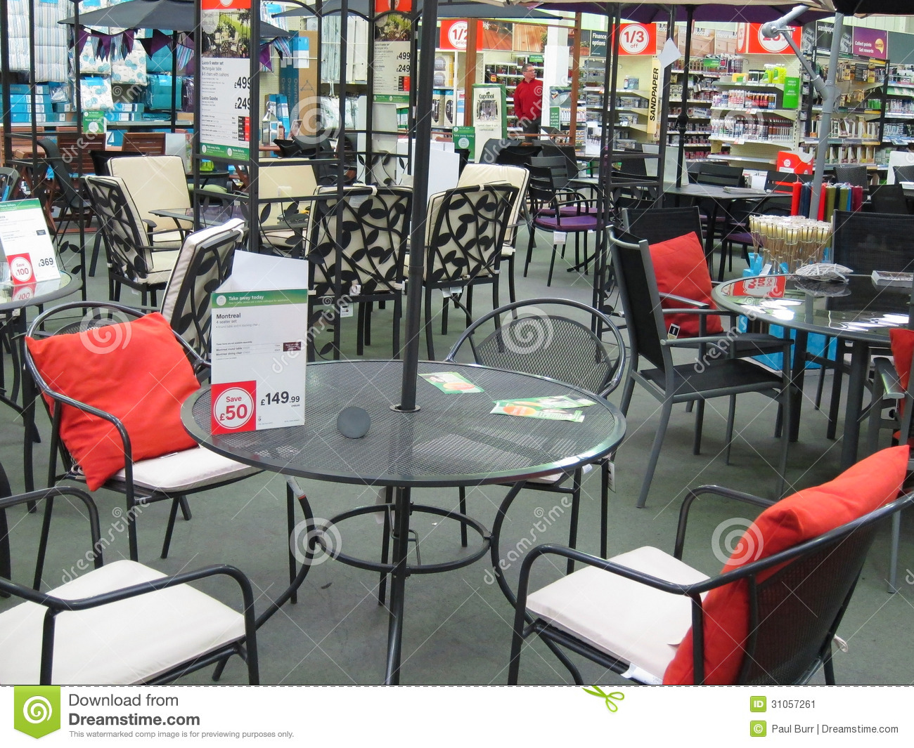 Garden Furniture In A Large Store Editorial Photo Image Of