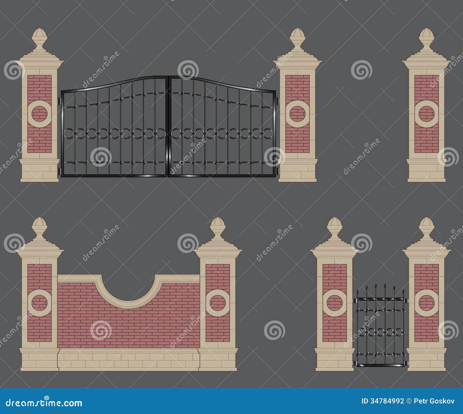 Garden Gate Stock Illustration Illustration Of Gate