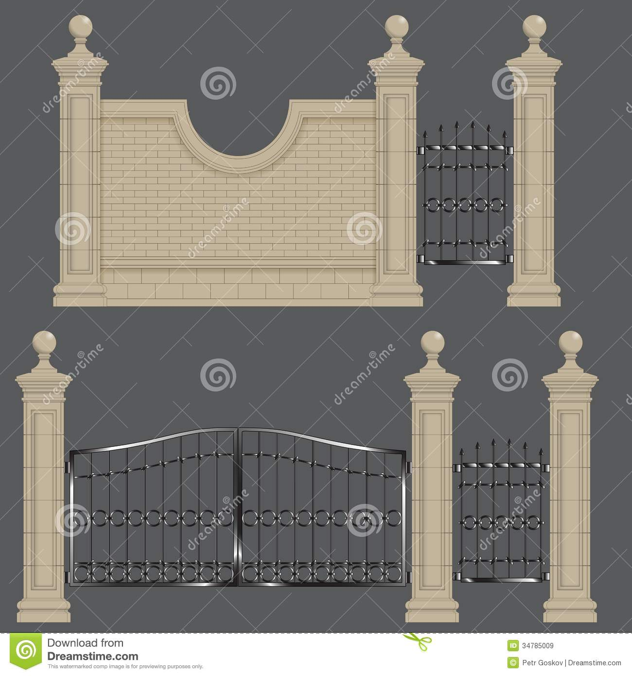 Garden Gate Stock Illustration Image Of Door Estate