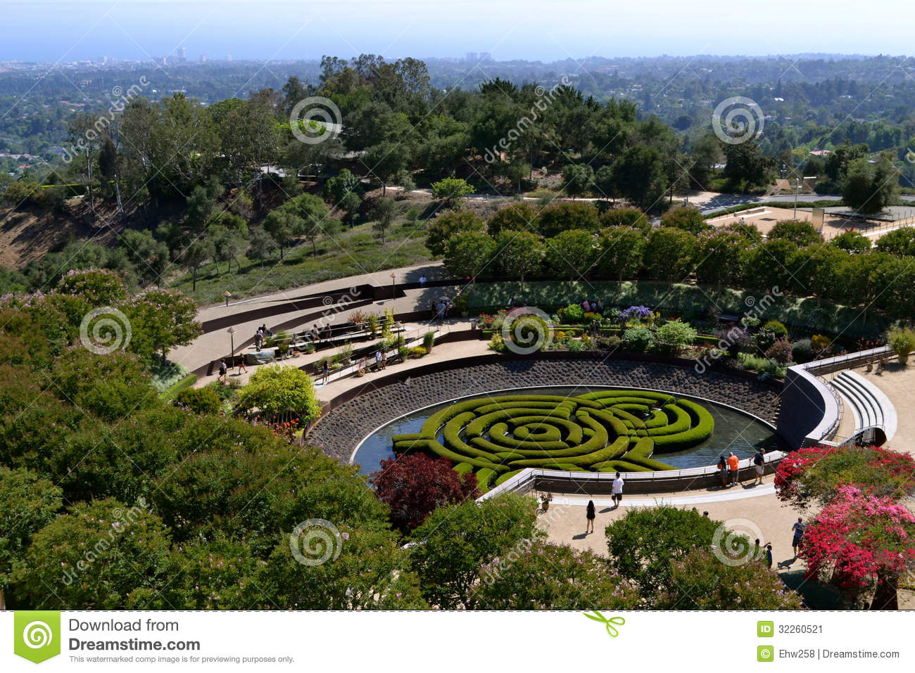 Garden At The Getty Center Editorial Photo Image 32260521