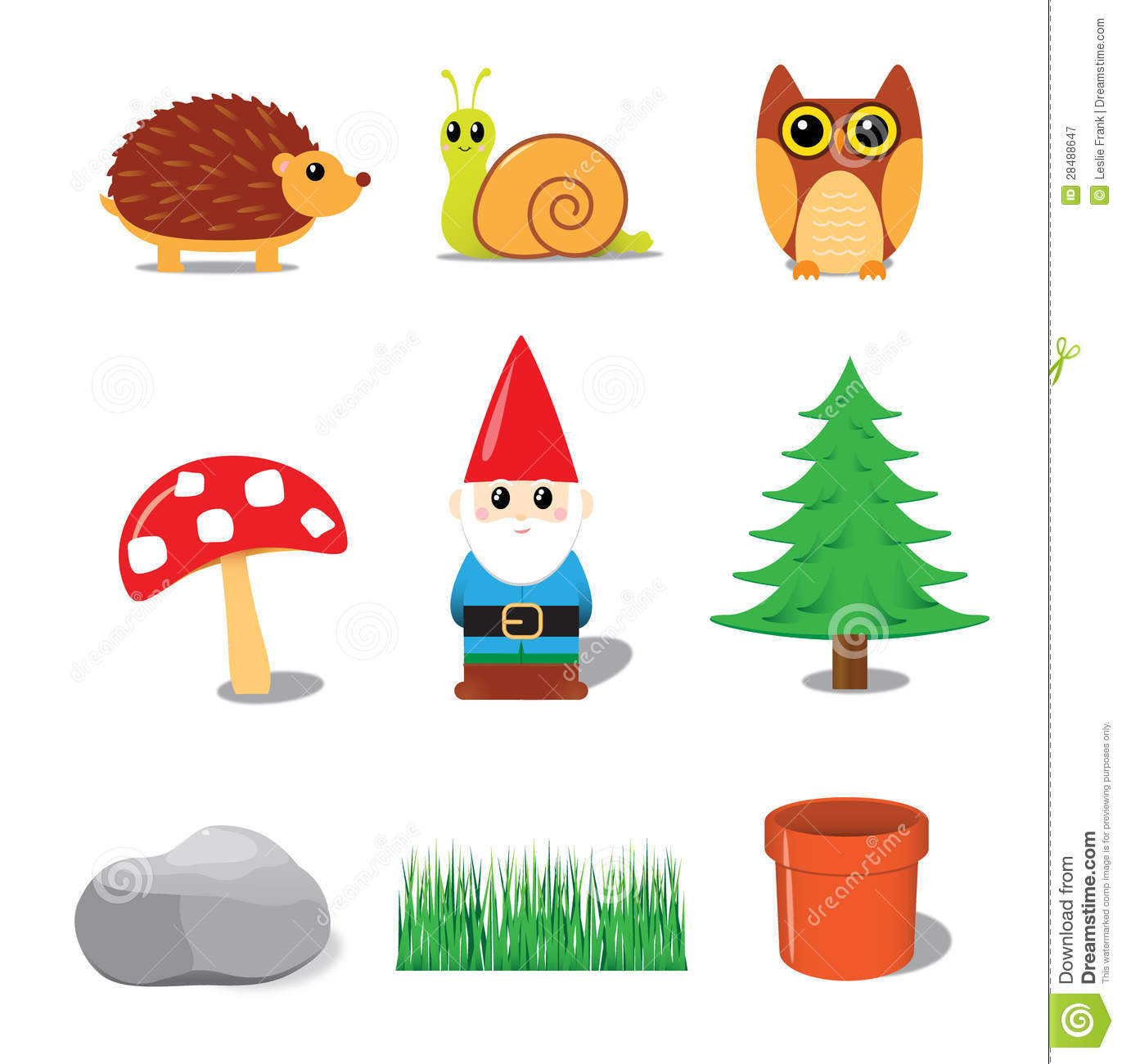 Gnome Clip Art: Garden Gnome Collection Stock Image. Image Of Hedgehog