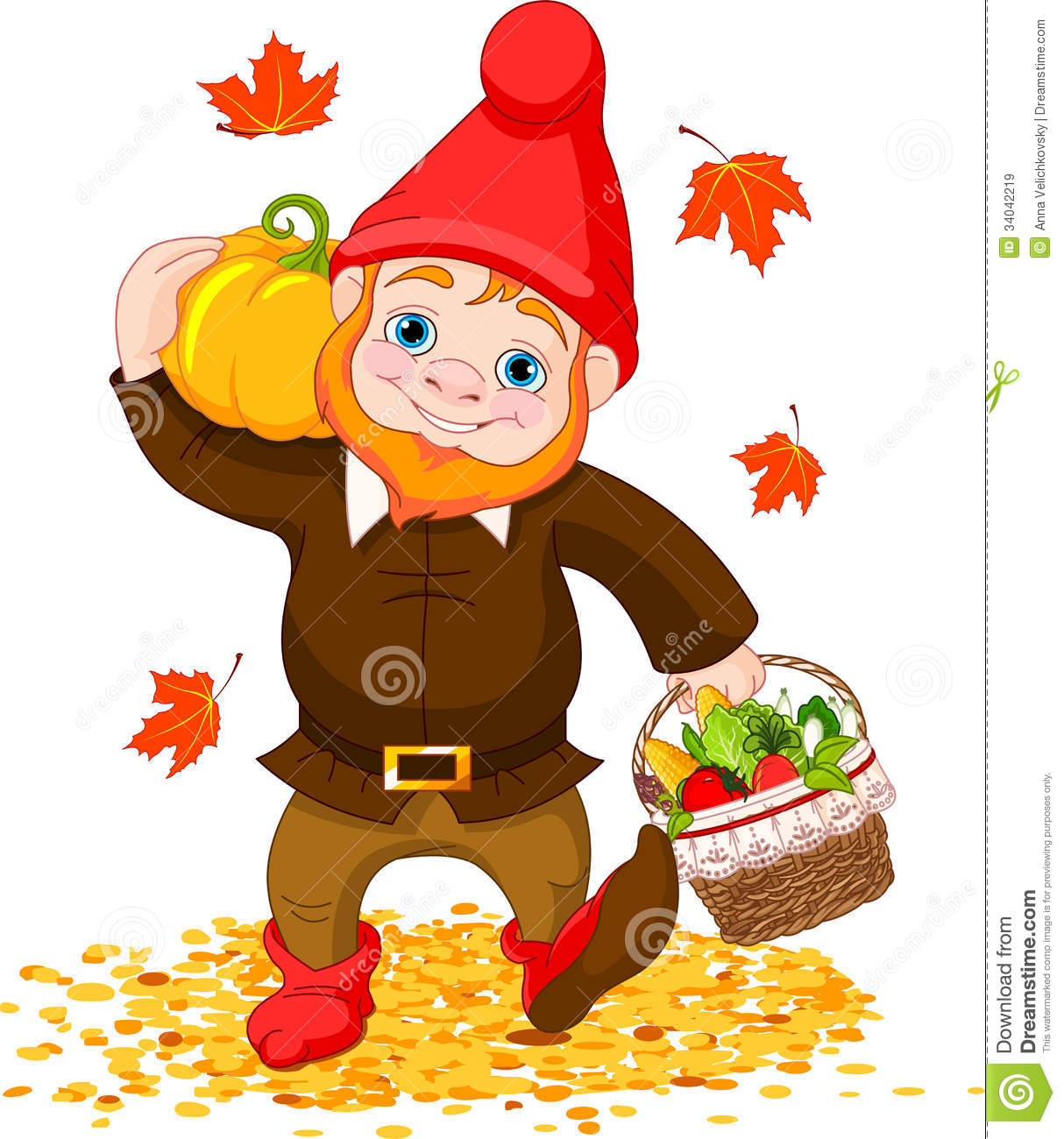 garden gnome with harvest royalty free stock images elf hat clip art black and white elf hat clip art no background