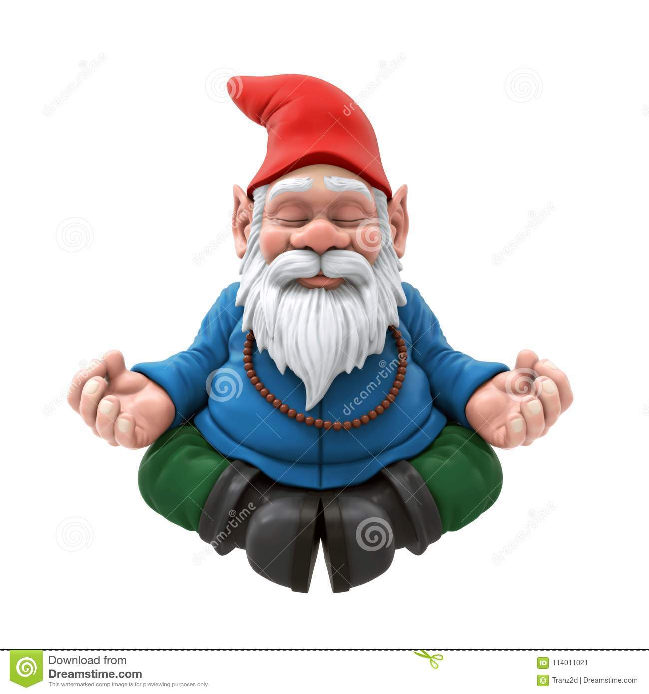 Garden Gnome Meditating stock illustration. Illustration of