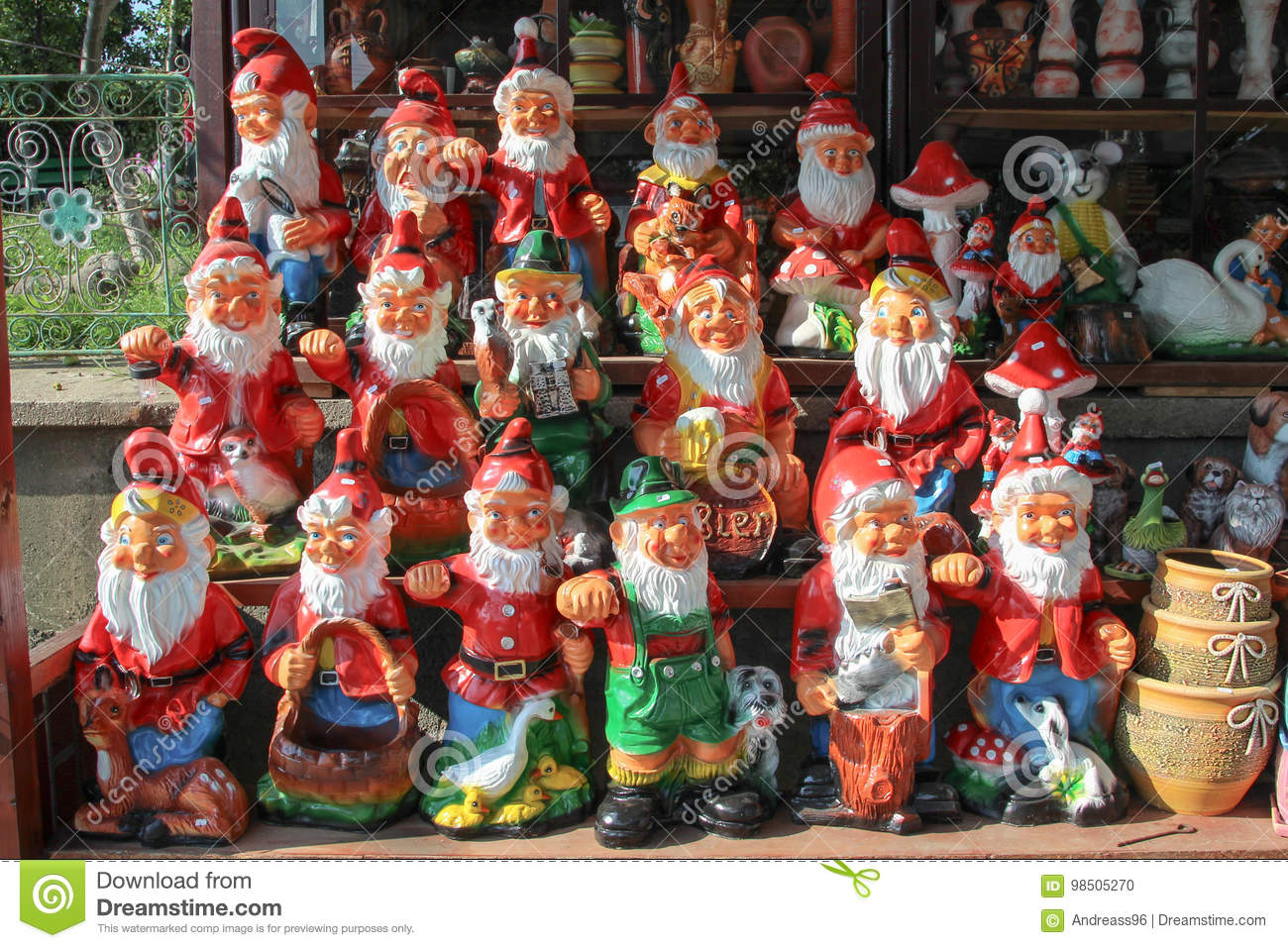 Garden Gnomes On Sale Stock Photo Image Of Chelsea Souvenir