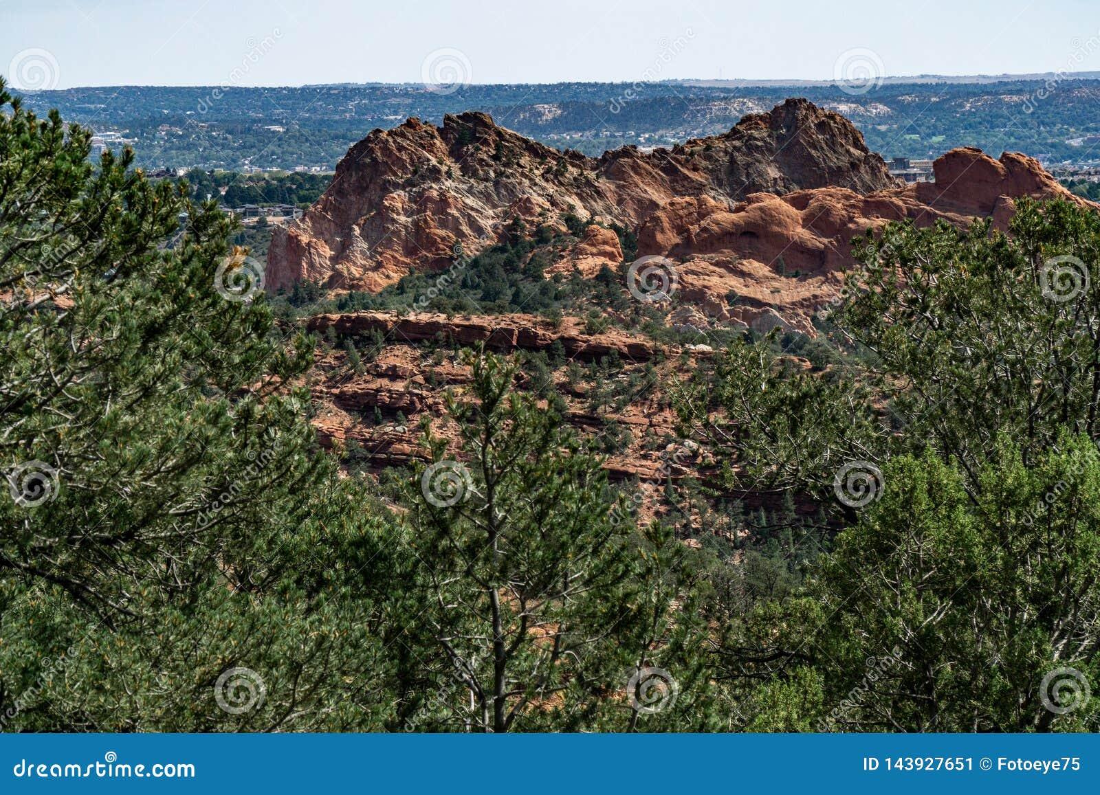 Garden Of The Gods Colorado Springs Pikes Peak Region Stock