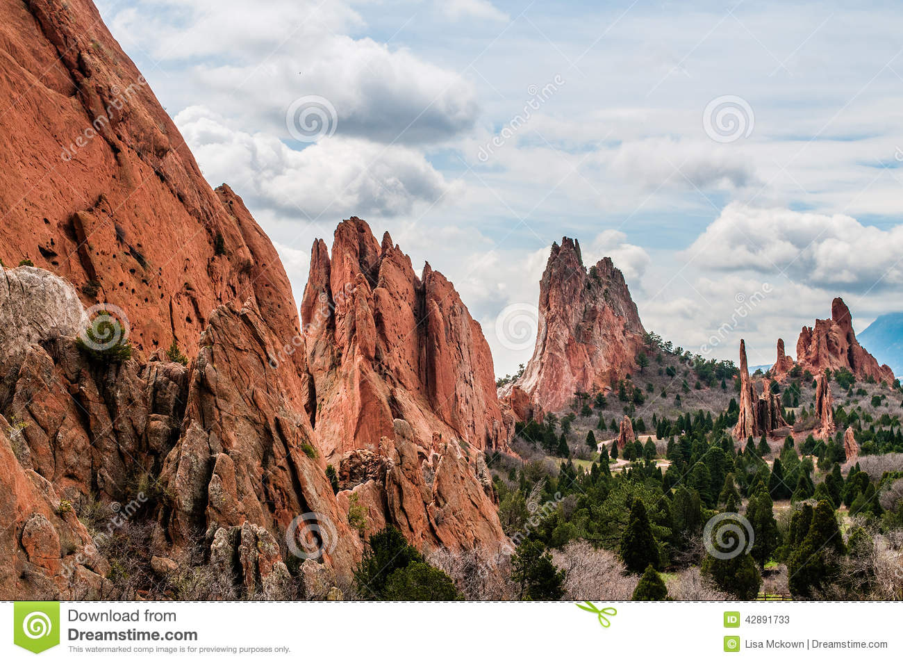 Pike Nursery Near Me: Garden Of The Gods Stock Image. Image Of Landscape, Calm