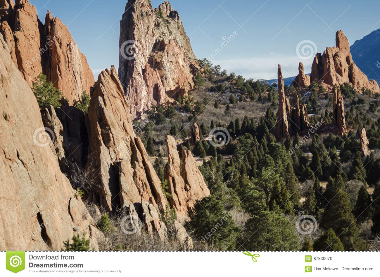 Garden of the Gods Park stock photo. Image of cliff, trail - 87330070