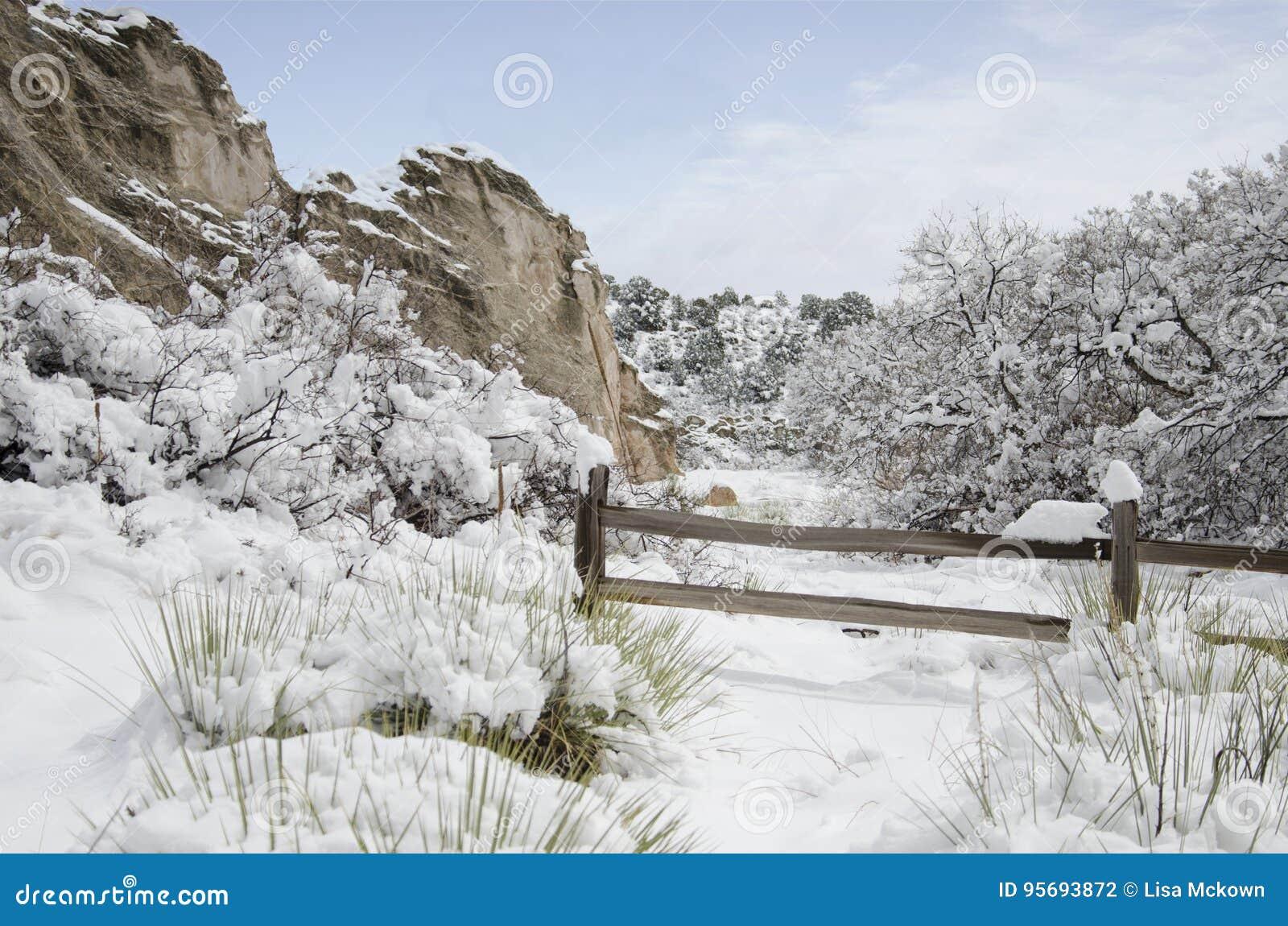 Garden of the Gods Park in Winter