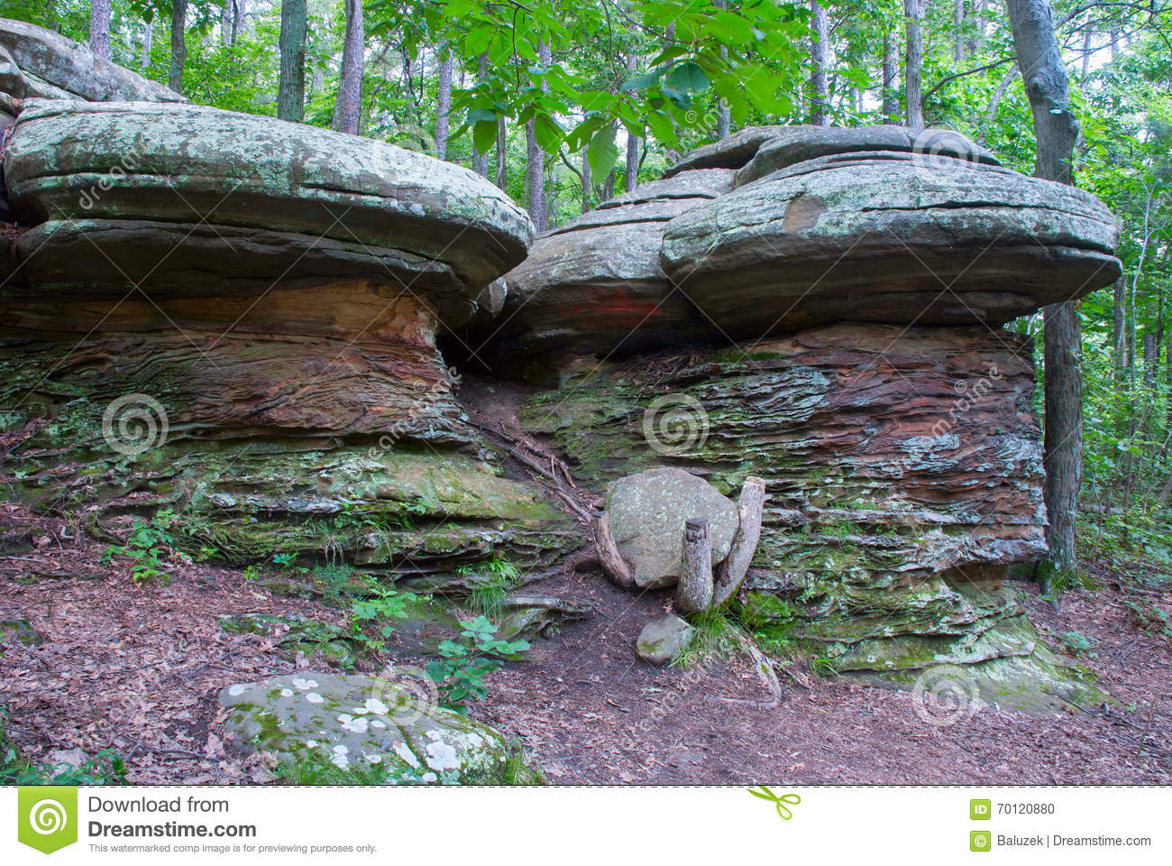 Garden Of The Gods Wilderness In Shawnee National Forest, Illinois, USA