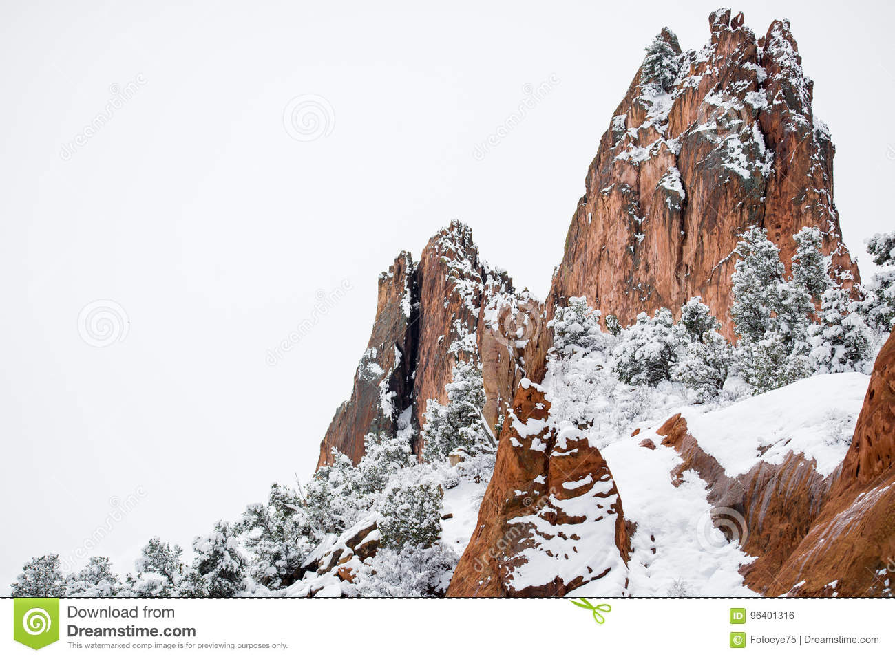 Garden of the Gods Winter Snow