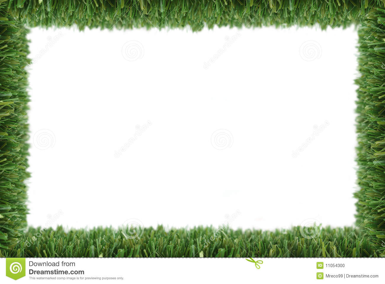 Royalty Free Stock Photo. Download Garden Grass Frame ...