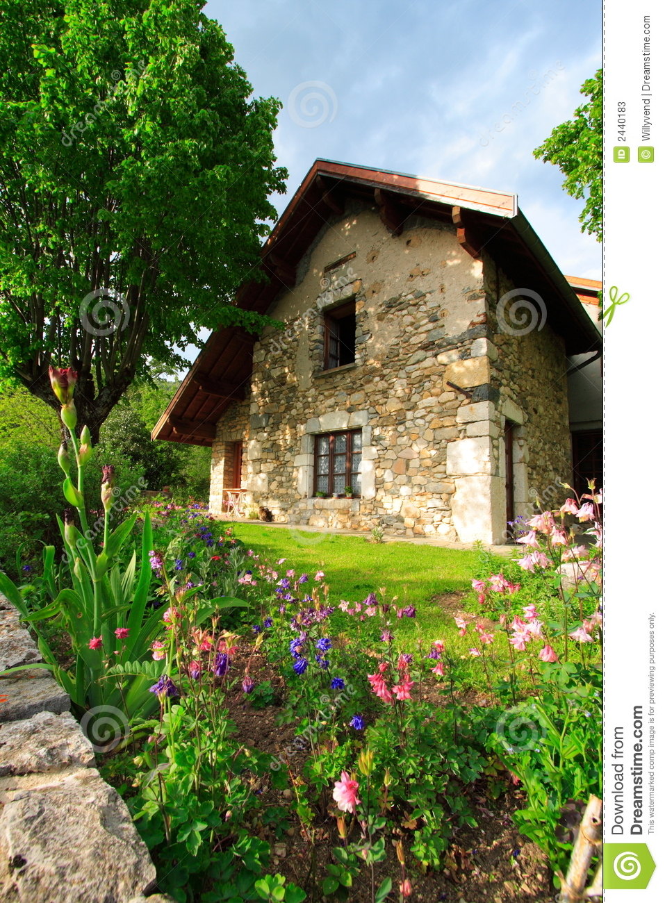 Garden and house stock photos image 2440183 for French countryside real estate