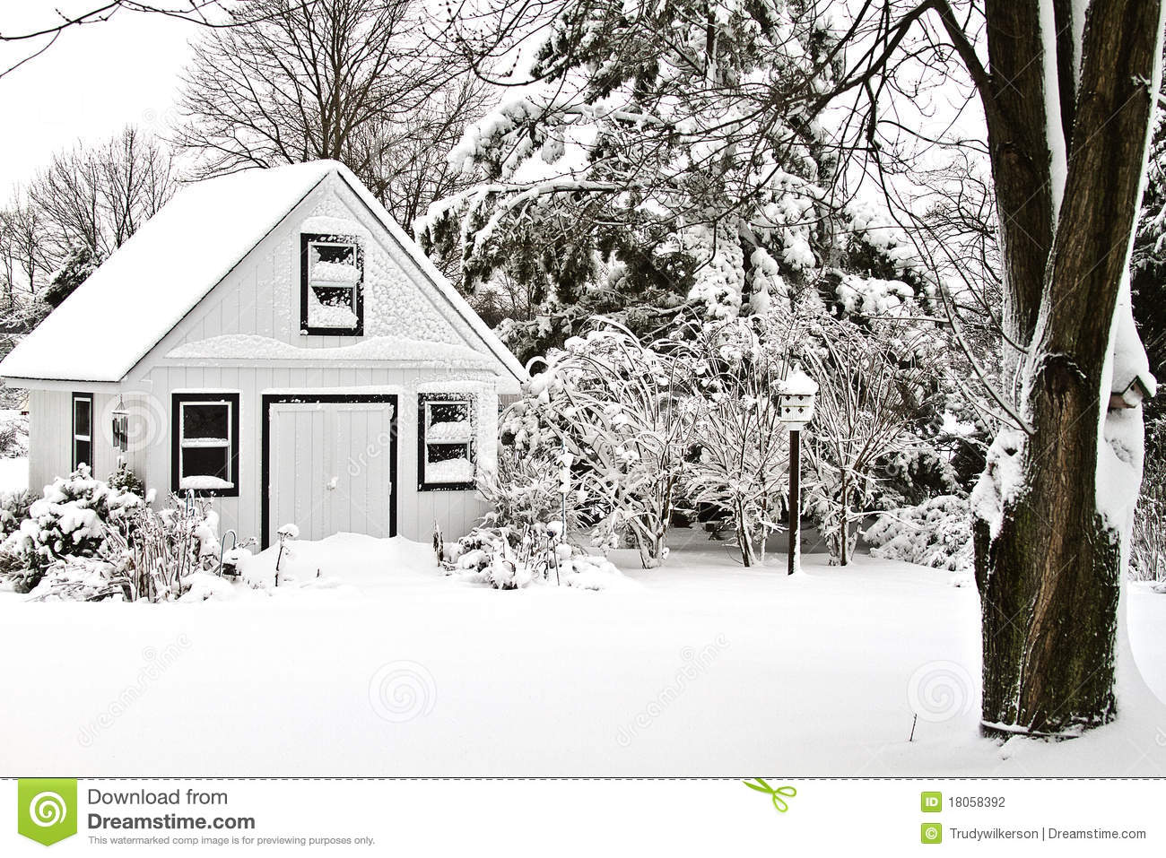snow covered house - photo #31