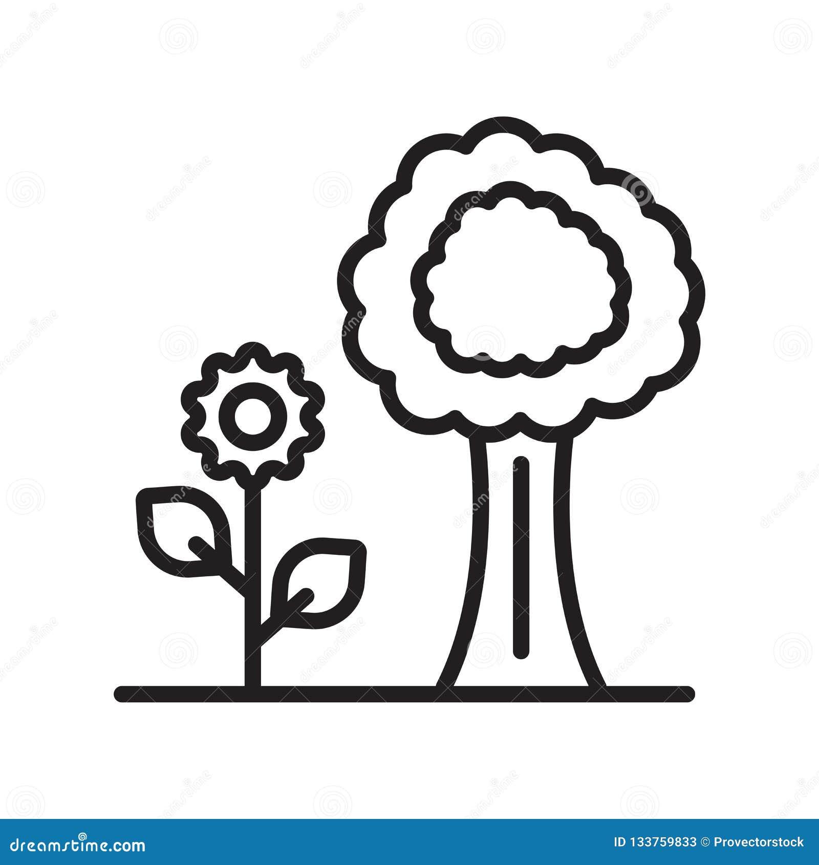 Garden icon vector sign and symbol isolated on white background, Garden logo concept