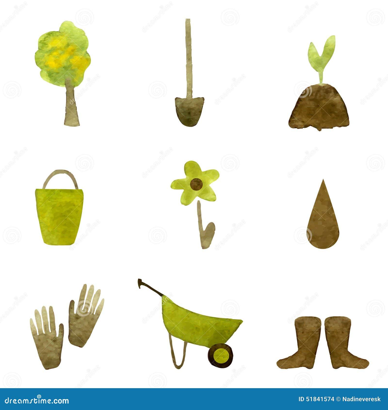 Garden Icons Stock Vector Image 51841574