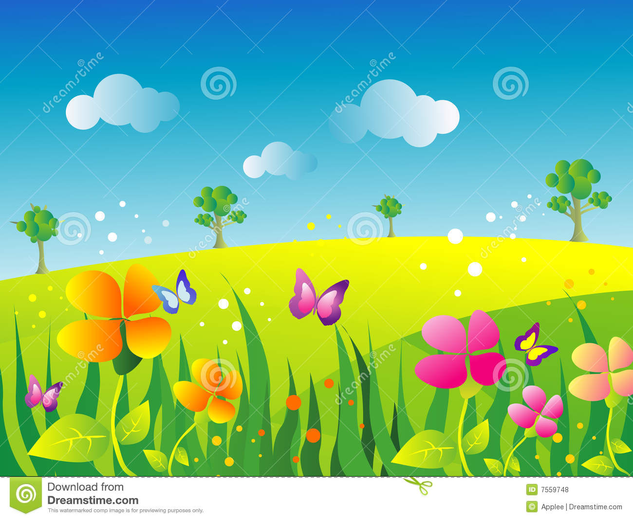 garden illustration royalty free stock photos image 7559748 clip art of spring flowers with watering can clip art of spring flowers with frogs