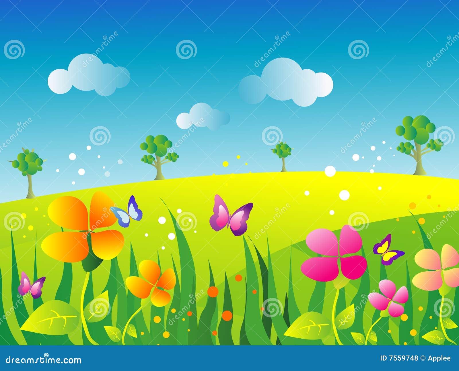 Garden illustration stock vector. Illustration of cute , 7559748