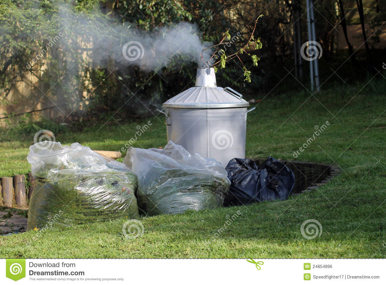 garden incinerator royalty free stock image image 24854896