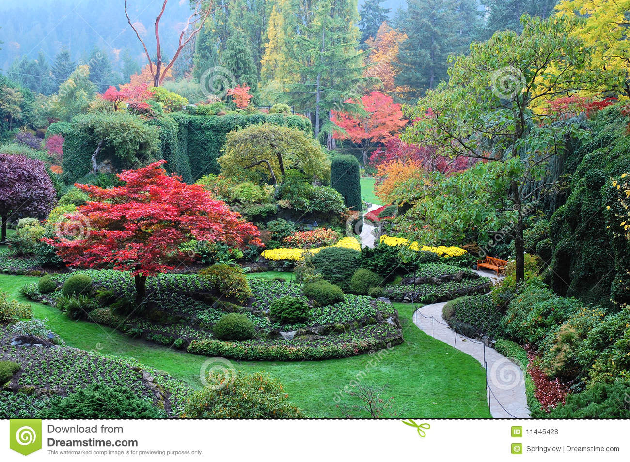 Garden Landscape Stock Photo. Image Of Display, Garden