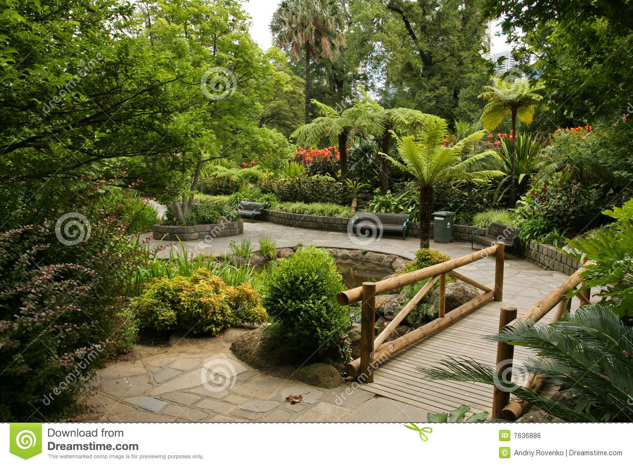 Garden landscape stock photo image of walkway garden for Garden landscape pictures