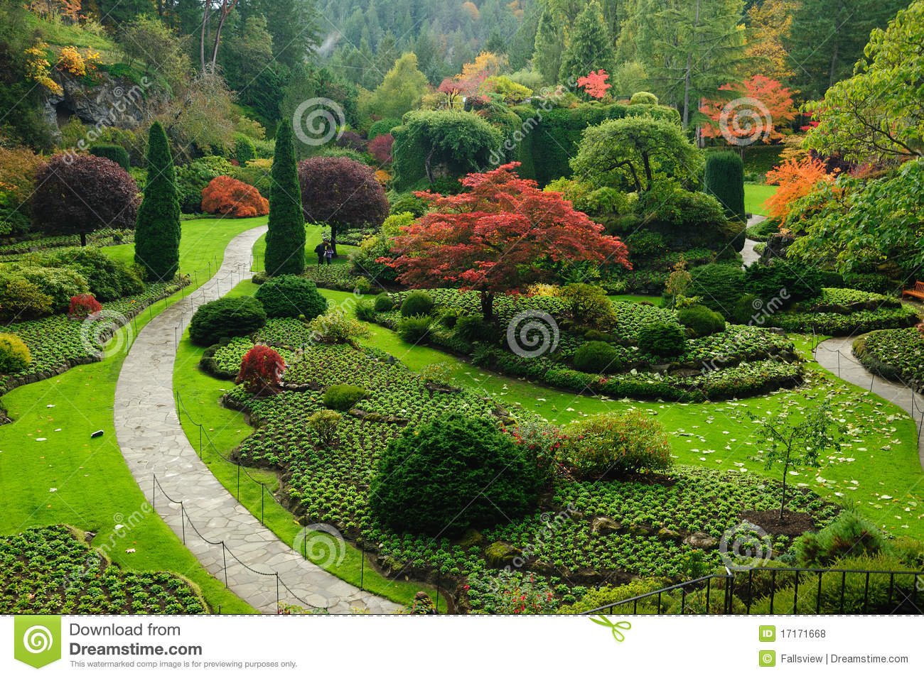 Genial Garden Landscaping. Royalty Free Stock Photo