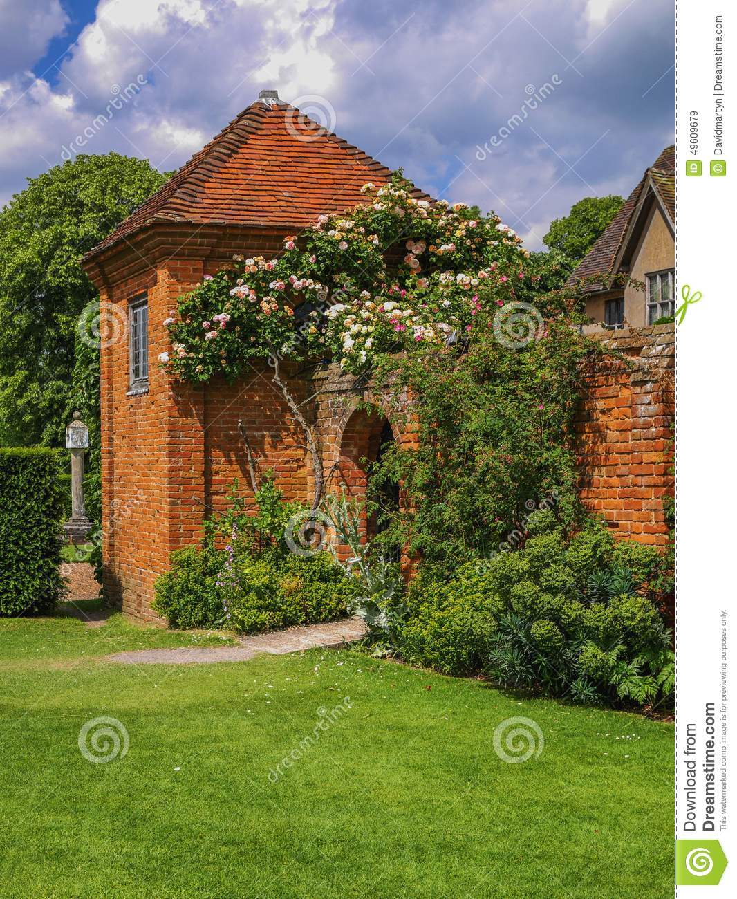 Garden stock image. Image of country, green, summers - 49609679