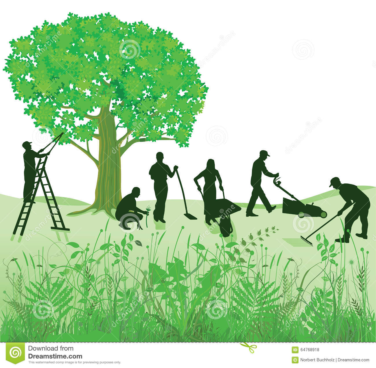 Garden maintenance stock vector illustration of for Gardening and landscaping services