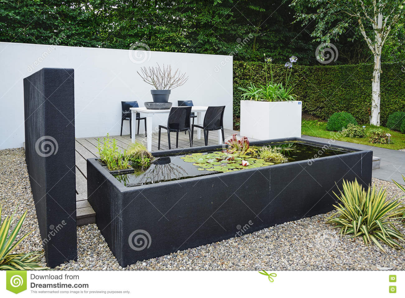 2015 the gardens of appeltern is the inspiration garden park in the netherlands in this picture a garden with modern garden furniture and trendy pond