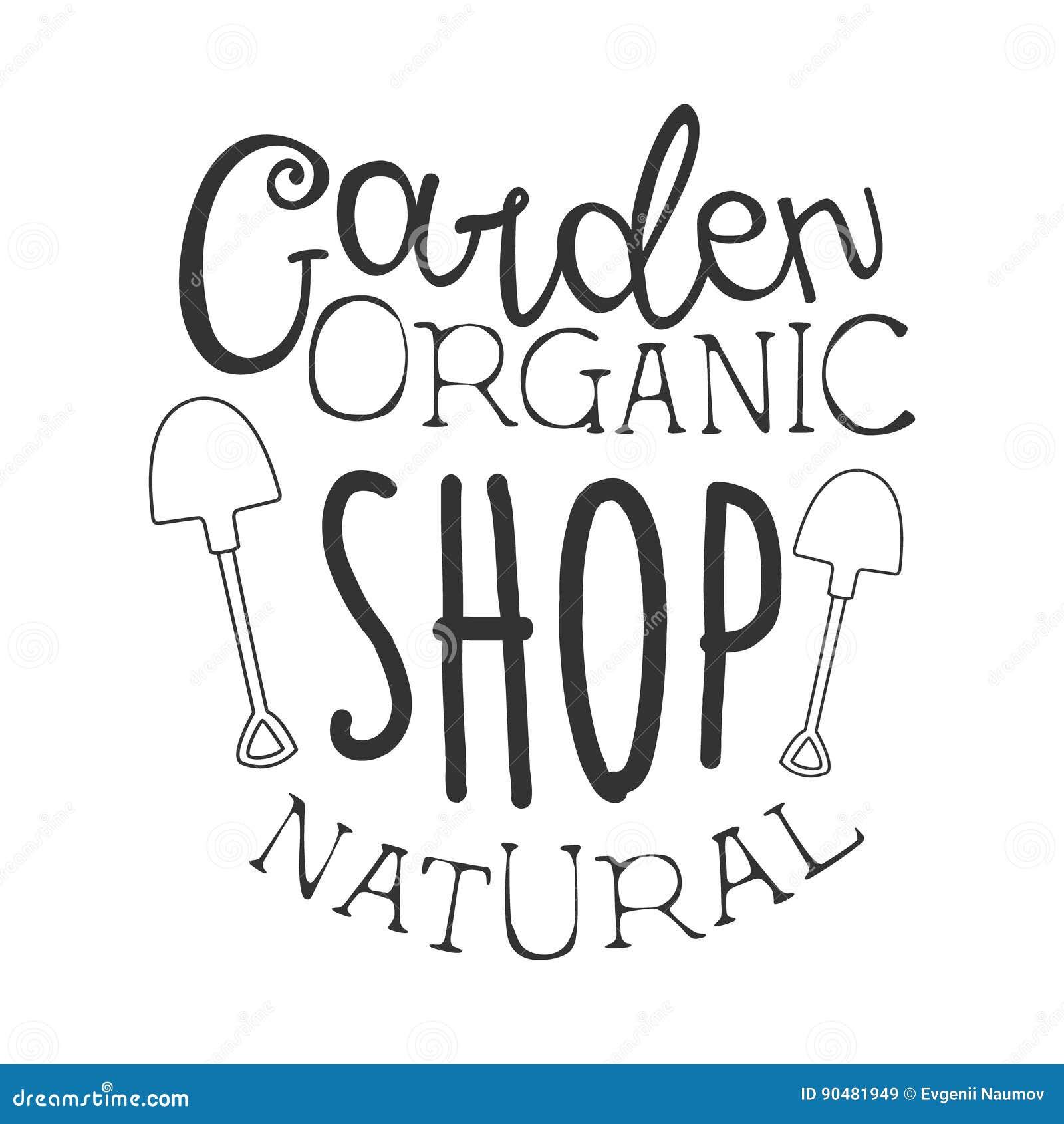Garden natural organic shop black and white promo sign for Gardening naturally coupon