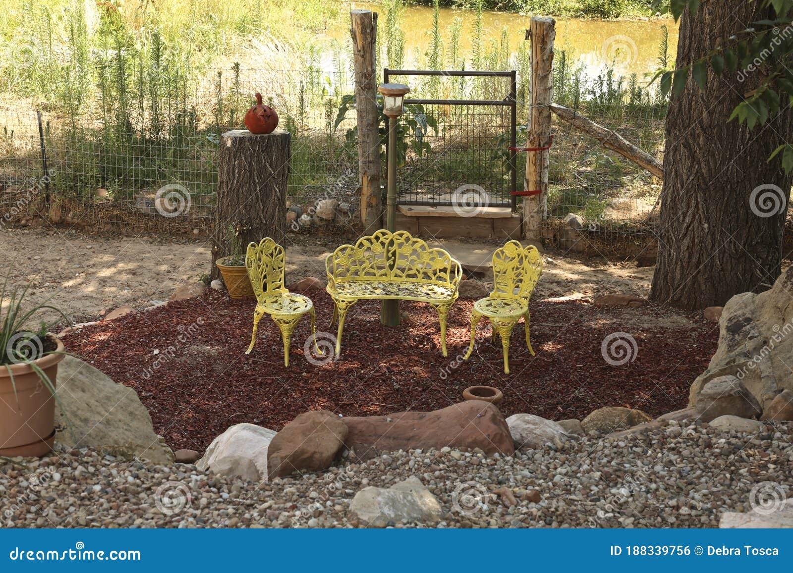 Garden Oasis Patio Furniture Nature Sanctuary Stock Photo Image Of Oasis Furniture 188339756