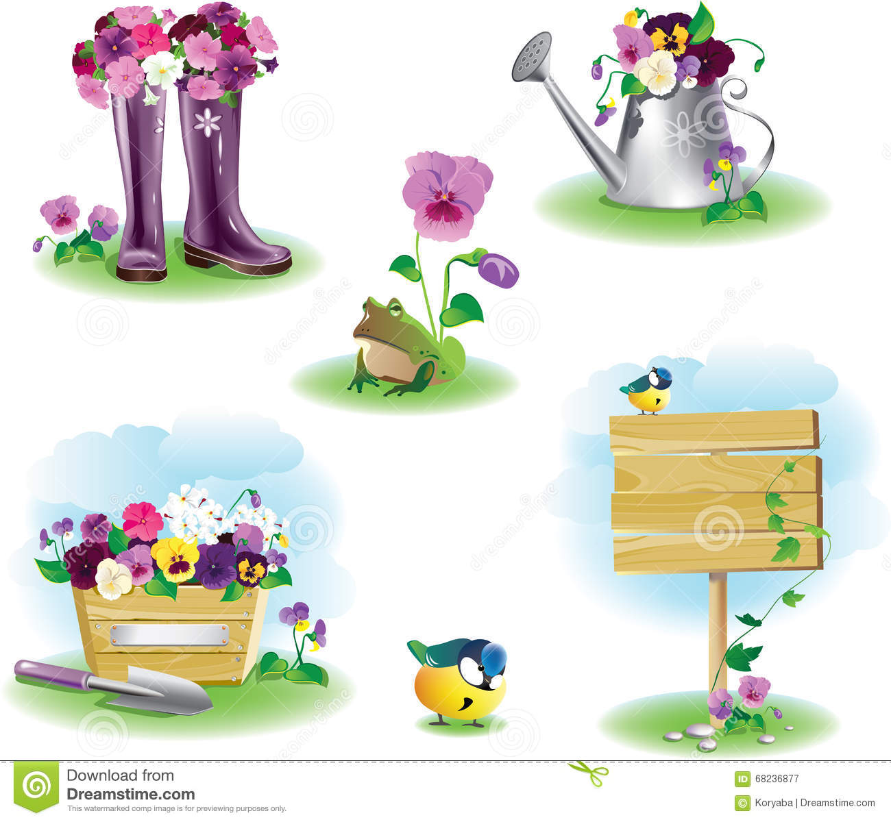 Superior Royalty Free Vector. Download Garden Objects ...