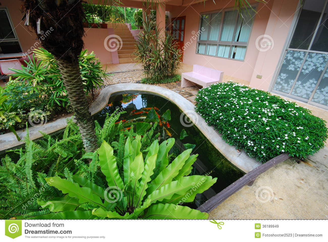 Garden And Outdoor Design Royalty Free Stock Images