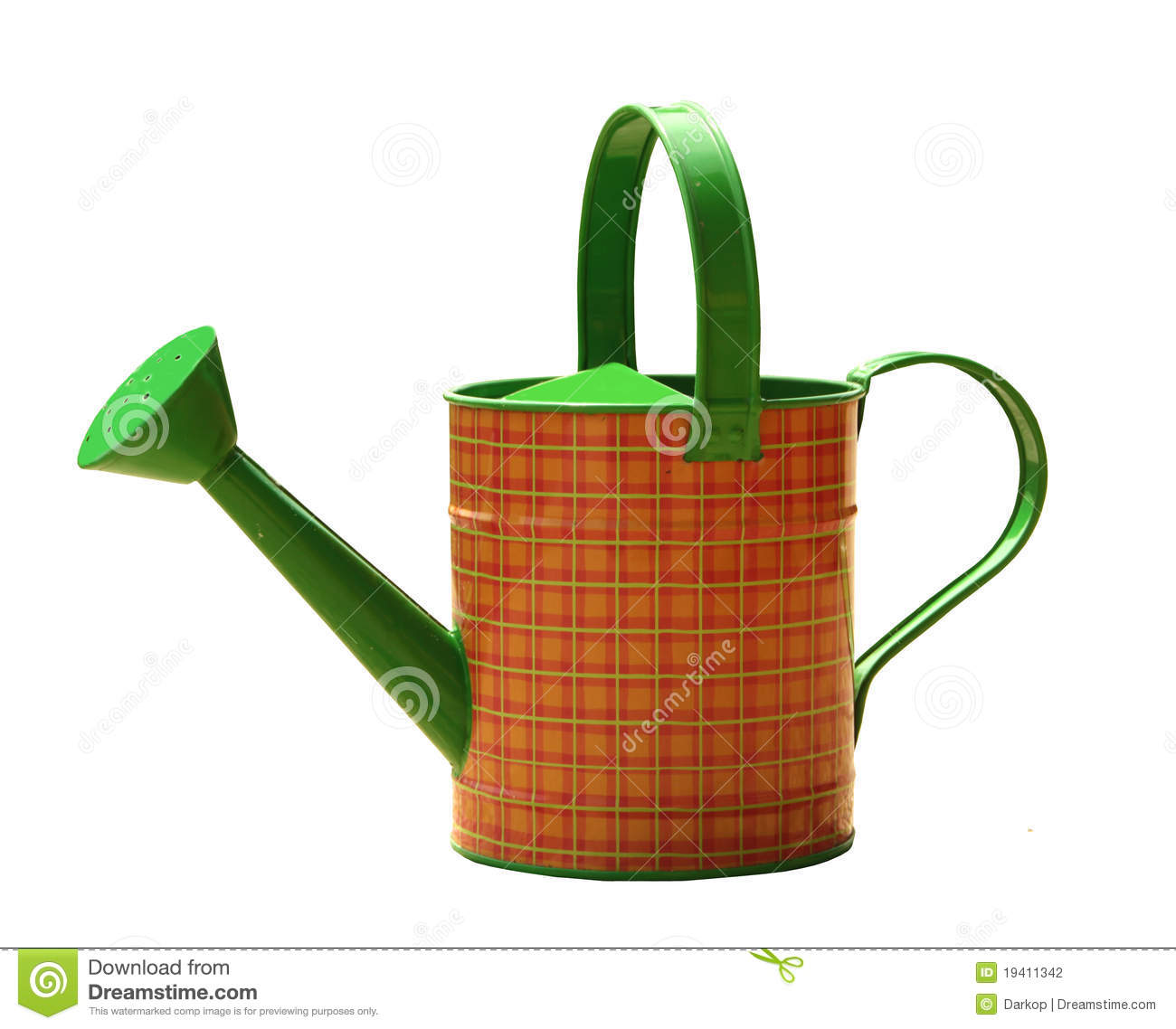Genial Garden Pail For Plants Watering Isolated On White