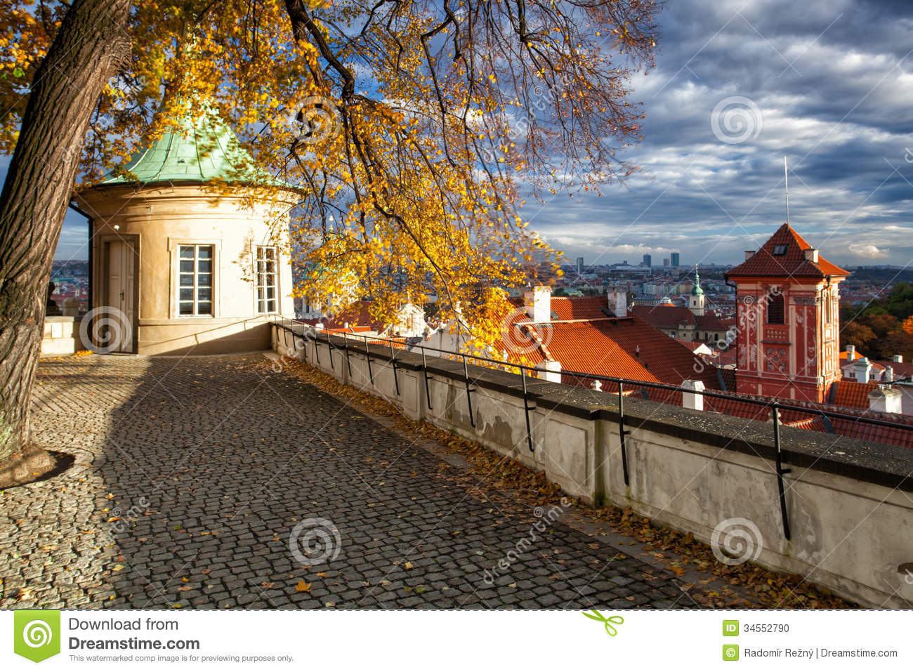 Garden of paradise in prague in czech republic stock photo for Where is prague near