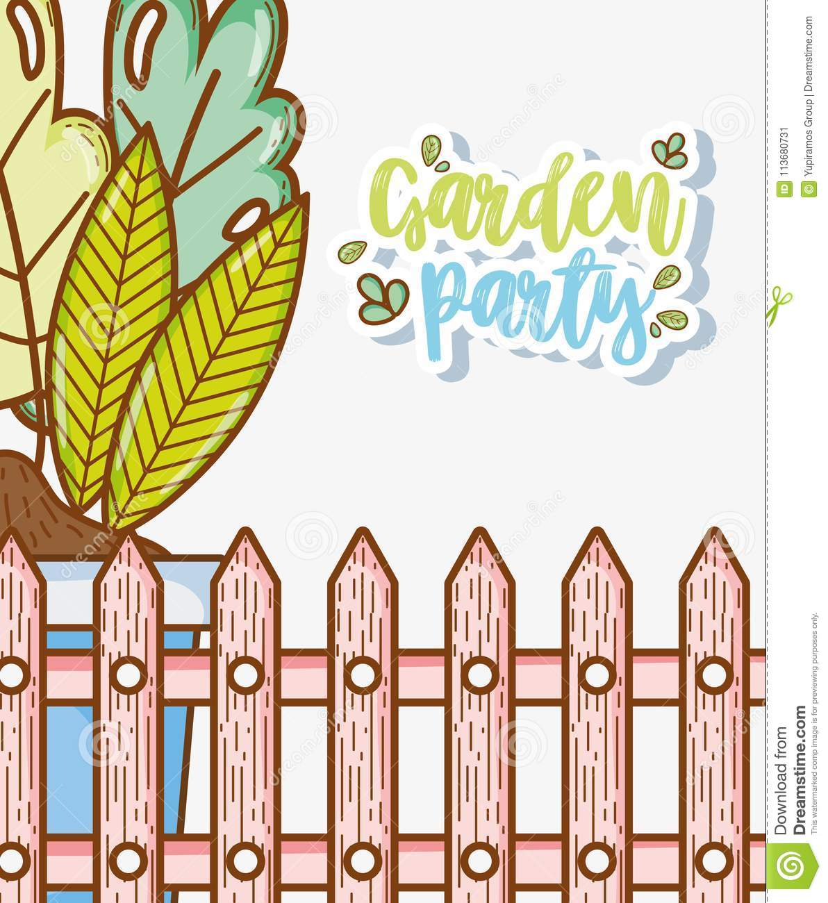Garden party card stock vector illustration of child 113680731 download comp stopboris Images