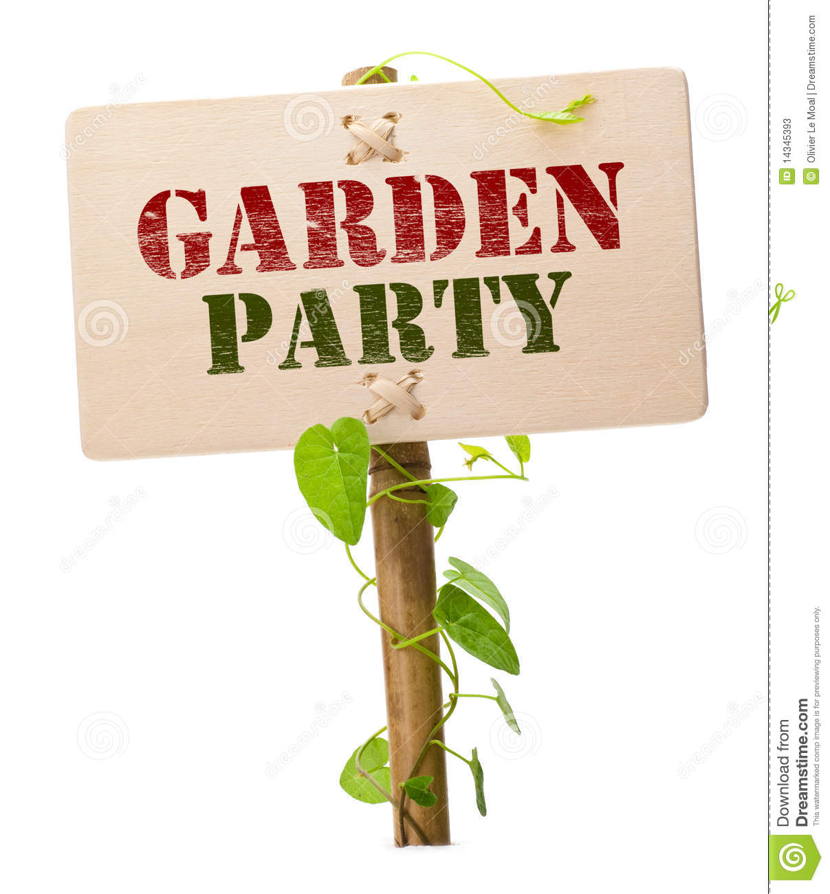 Garden Party Invitation Card Stock Photos - Image: 14345393