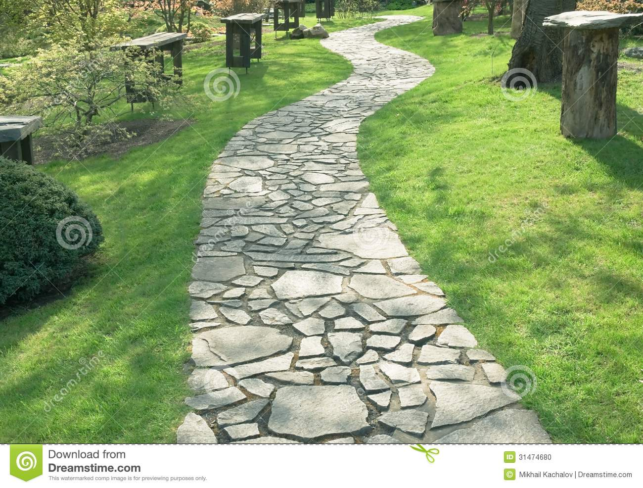 Garden path stock photo image of outdoors lawn bush 31474680 garden path workwithnaturefo