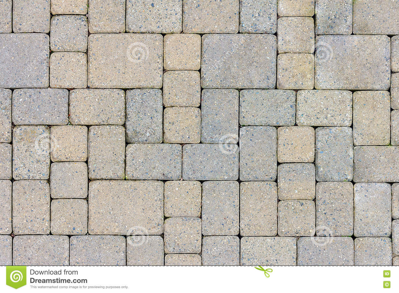 Garden patio stone pavers top view stock image image for Bricks stone design