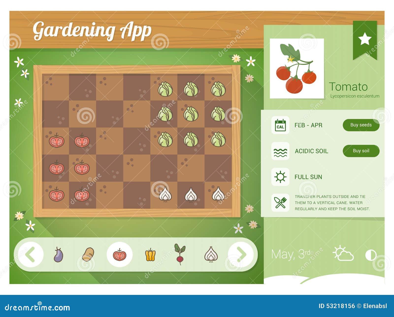 Garden planner app stock vector. Illustration of gardening ...