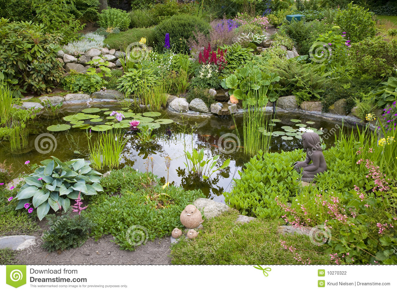 Garden pond stock photo image of luxuriant garden for Garden pond unlimited