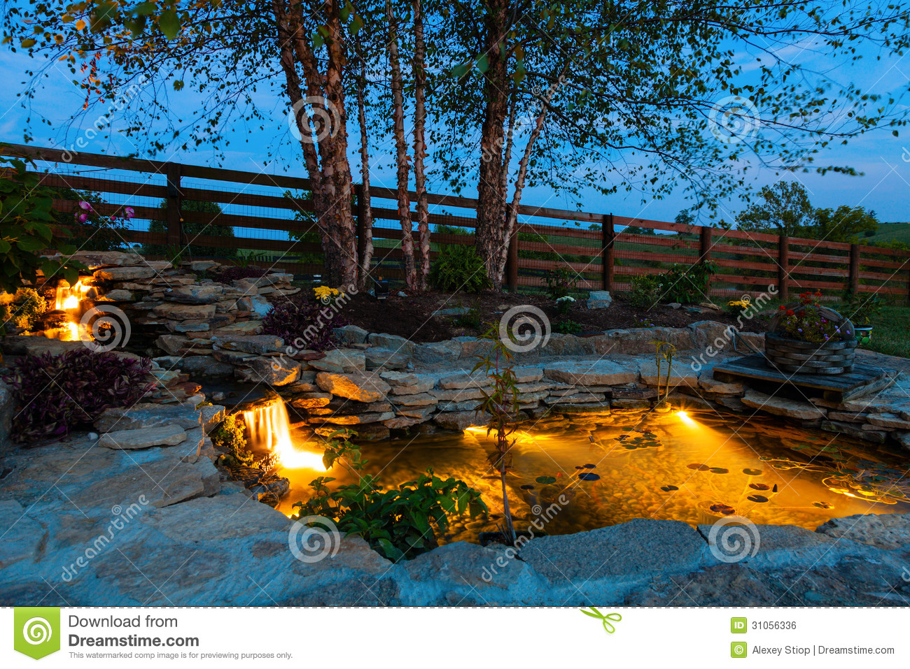 Garden pond royalty free stock image image 31056336 - Decoratie kooi ...