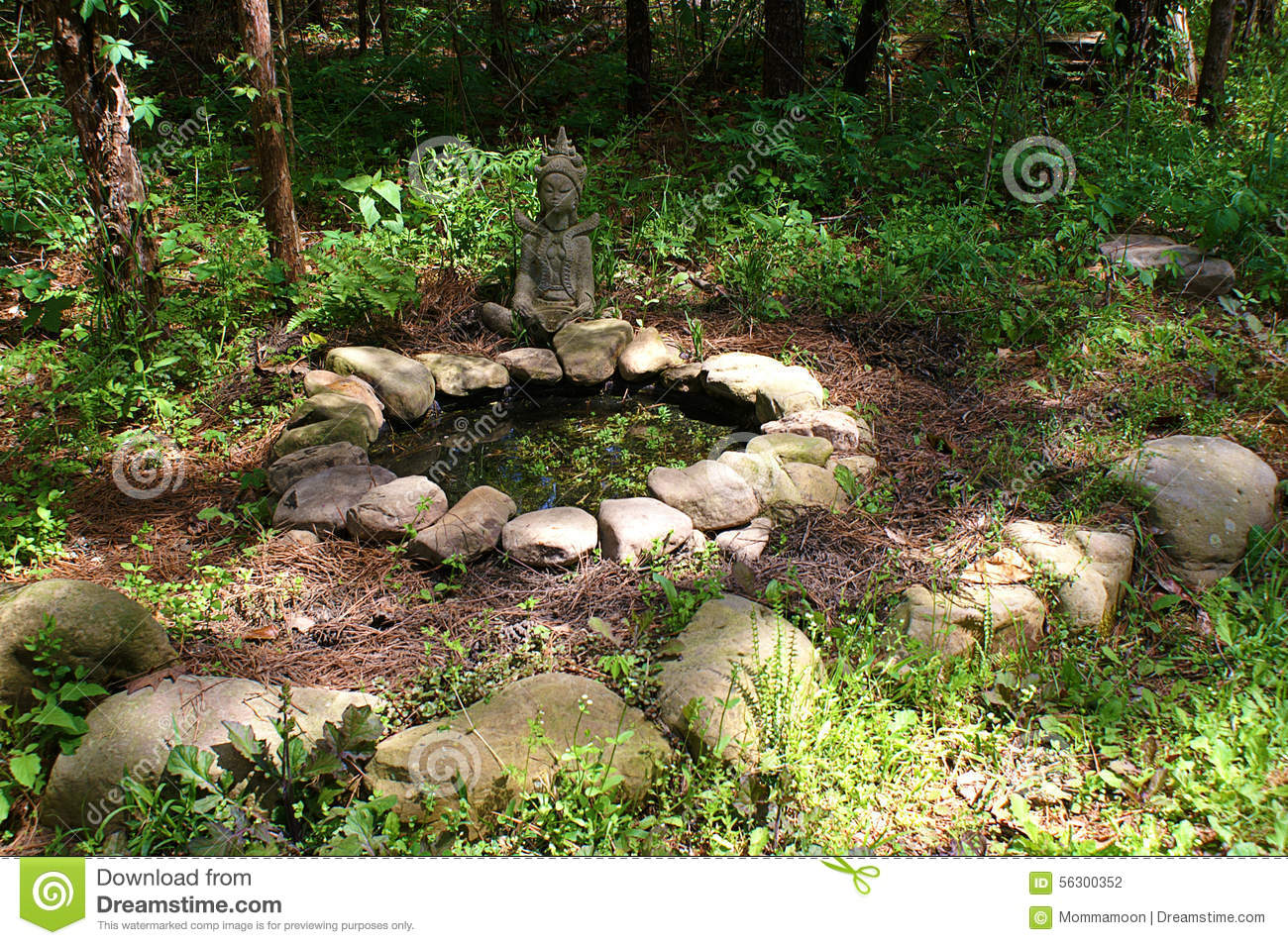 Garden pond surrounded with rocks stock photo image of for Garden pond design software free download